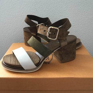 Brand New Tod's Suede Sandals with Ankle Strap